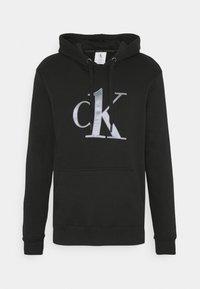 Calvin Klein Underwear - ONE RAW EDGE HOODIE - Maglia del pigiama - black - 4