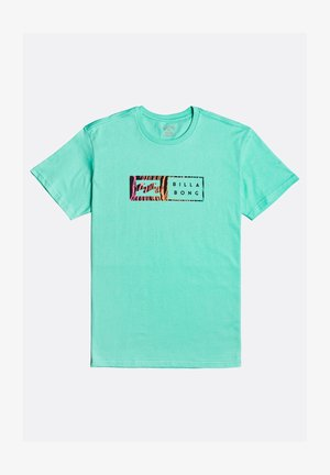 INVERSED - Print T-shirt - light aqua