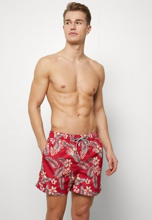 JJIARUBA JJSWIMSHORTS TROPIC - Swimming shorts - chili