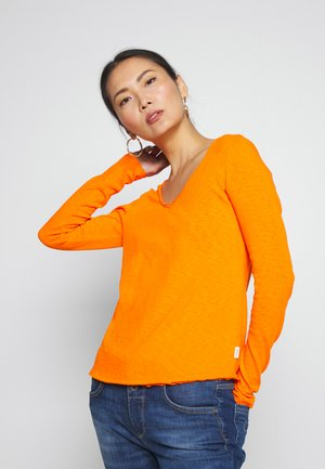 LONGSLEEVE RAW CUT EDGES - Long sleeved top - dragon fire