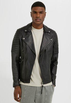 DARWO - Leren jas - black