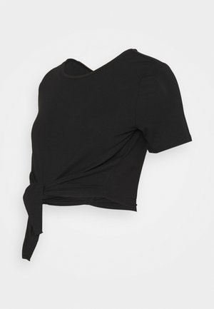 PCMNEORA TIE TEE  - T-shirts med print - black