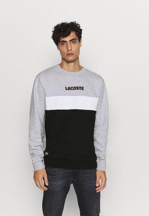 Sweatshirt - argent chine/noir/blanc
