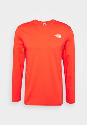 MENS EASY TEE - Long sleeved top - red/white