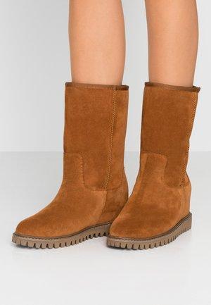FARA - Wedge boots - brown