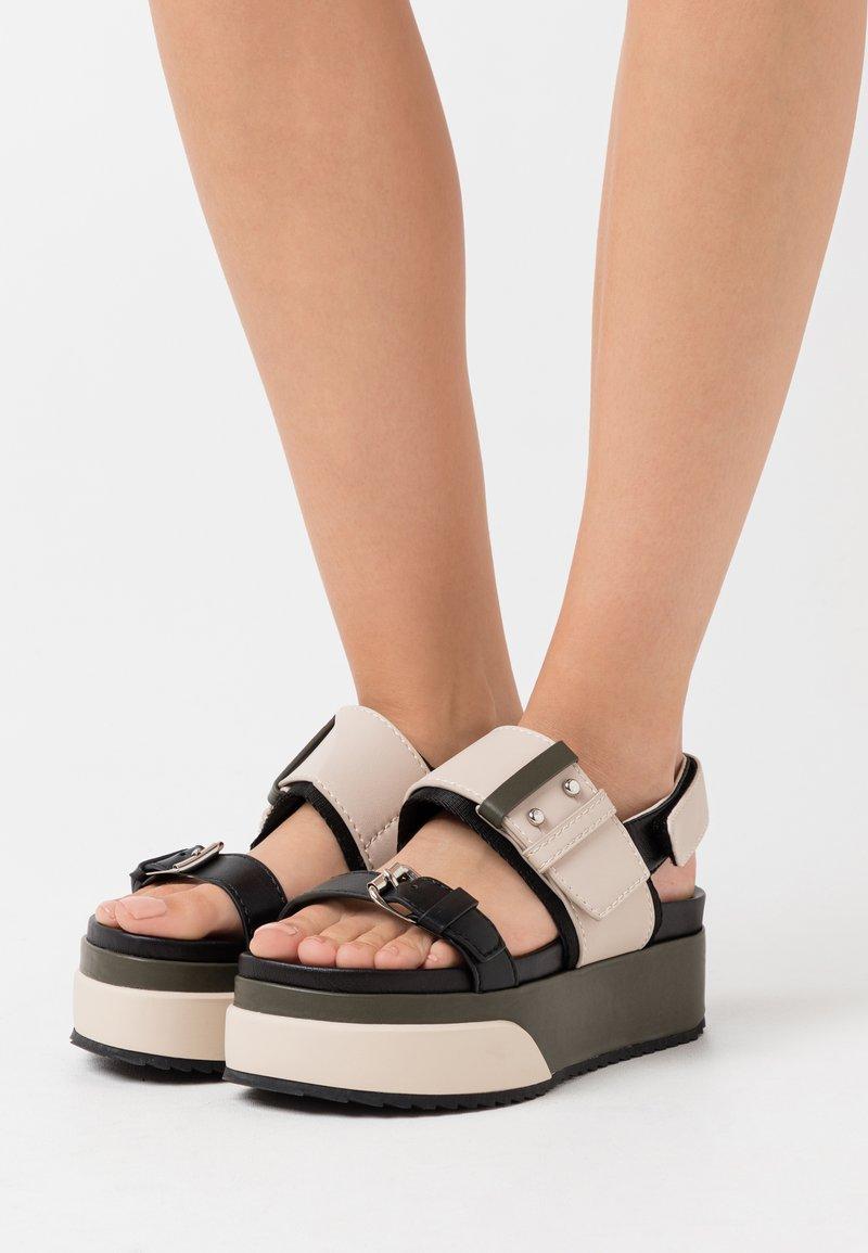 MAX&Co. - HARBOUR - Platform sandals - beige