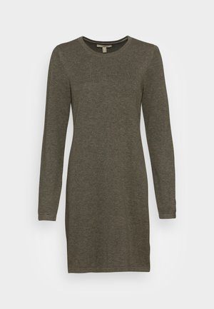 DRESS - Strikket kjole - dark khaki