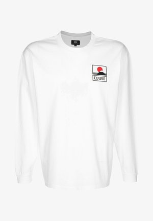 SUNSET ON MT FUJI - Long sleeved top - white garment washed