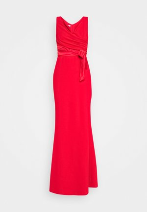 BARDOT BAND DRESS - Iltapuku - red