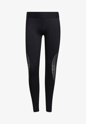 ALPHASKIN LONG POWER LASER PERFORMANCE LEGGINGS - Leggings - black