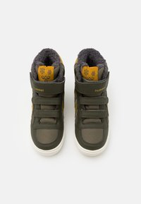 Hummel - STADIL SUPER POLY MID JR - High-top trainers - olive night - 3