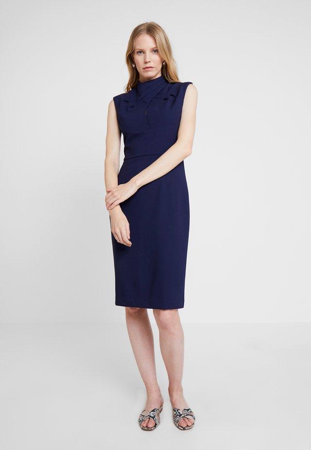 DRAPE SHIFT DRESS - Shift dress - winter true blue