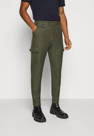 COMO PANTS - Cargo trousers - deep forrest