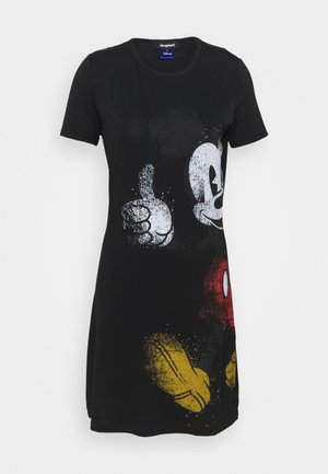 MICKEY - Jersey dress - black