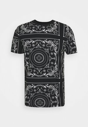 FENDER - T-shirt med print - jet black/optic white/grey