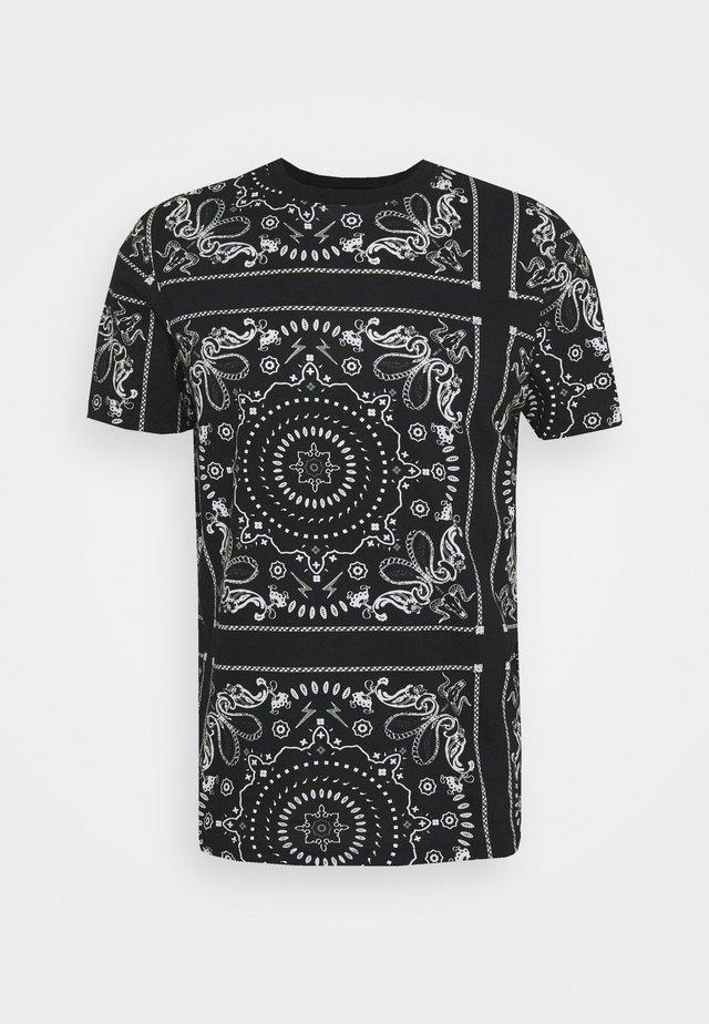 FENDER - T-shirt con stampa - jet black/optic white/grey