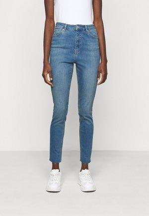 HIGH WAIST RAW  - Jeans Skinny Fit - blue