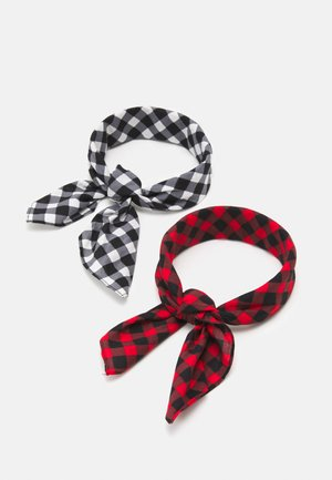 UNISEX 2 PACK - Foulard - white/red