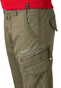 Timezone - Cargo trousers - muddy green - 3