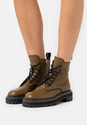 SOFTY - Lace-up ankle boots - muschio