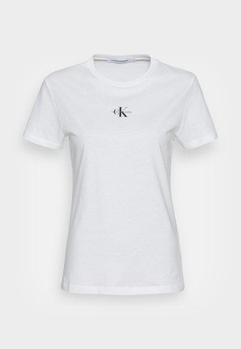 MICRO MONOGRAM  - T-shirts - bright white
