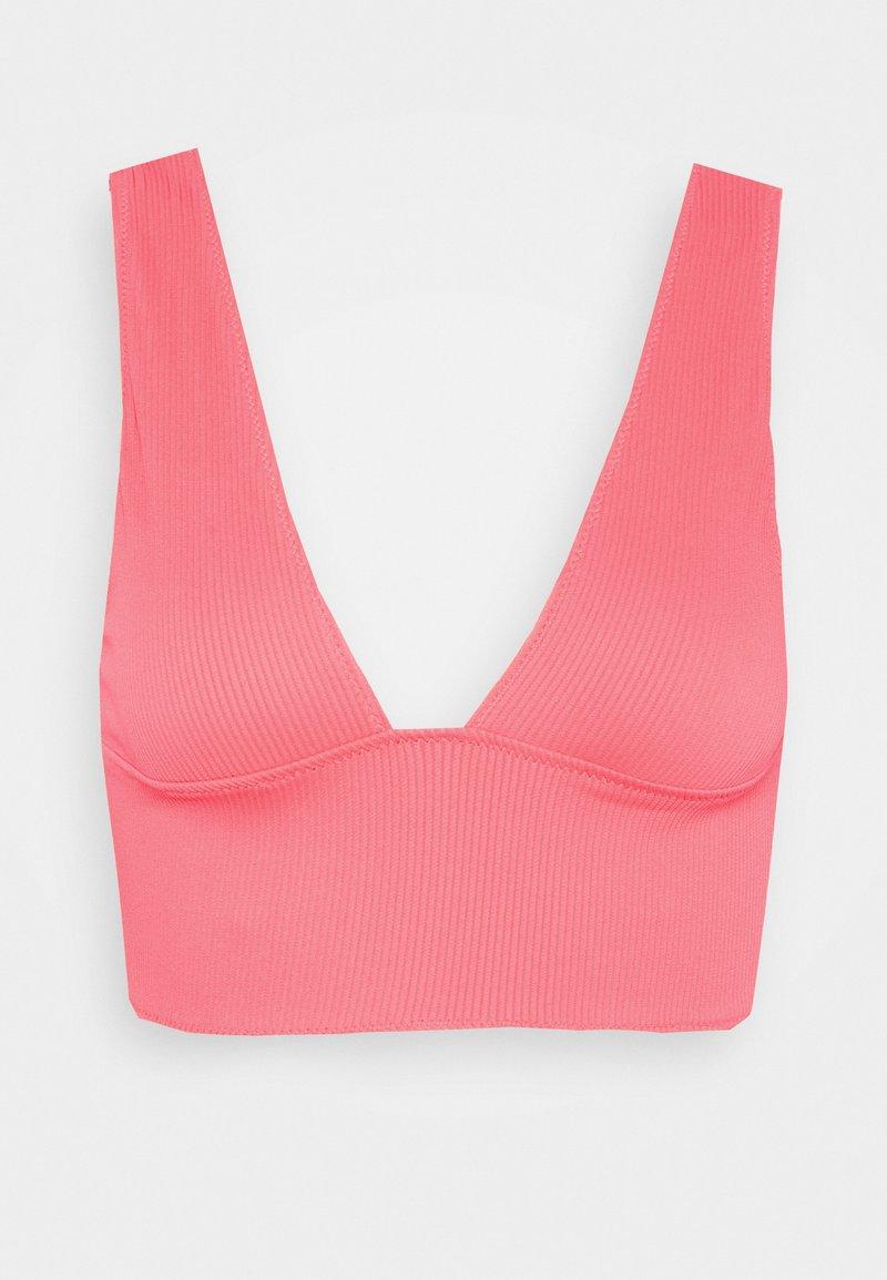 We Are We Wear - TIA REVERSIBLE PLUNGE  - Bikini top - salmon/orange