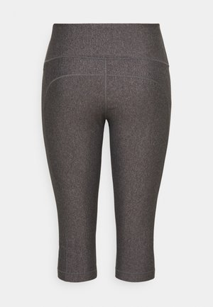 HIGH RISE CAPRI - 3/4 sports trousers - charcoal light heather