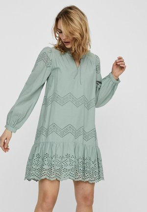 KLEID BESTICKTES - Day dress - green milieu