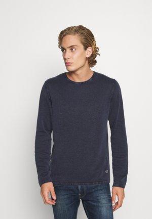 JJELEO  - Stickad tröja - navy blazer