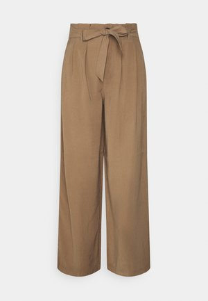 ONLAMINTA ARIS LIFE WIDE PANT - Trousers - walnut