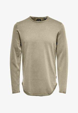 LANGÄRMELIG BASIC - Long sleeved top - chinchilla