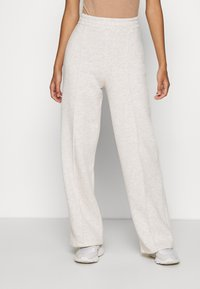 Nly by Nelly - STRAIGHT COZY PANTS - Trainingsbroek - beige mélange - 0