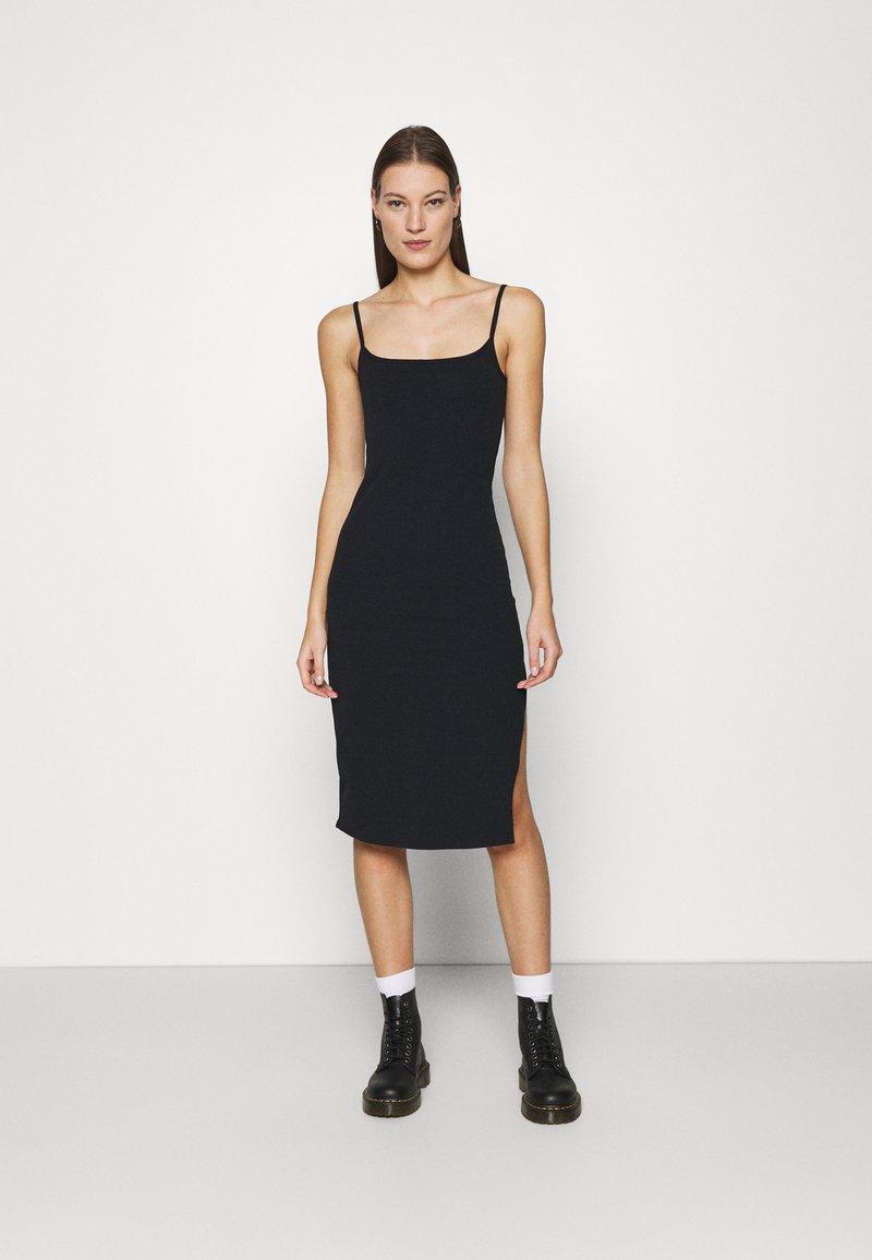 Abercrombie & Fitch - MIDI DRESS - Day dress - black