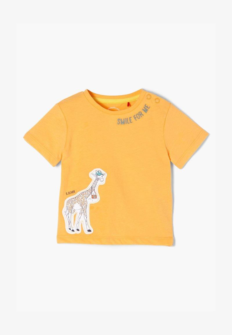 s.Oliver - MIT GIRAFFEN-APPLIKATION - Print T-shirt - light orange