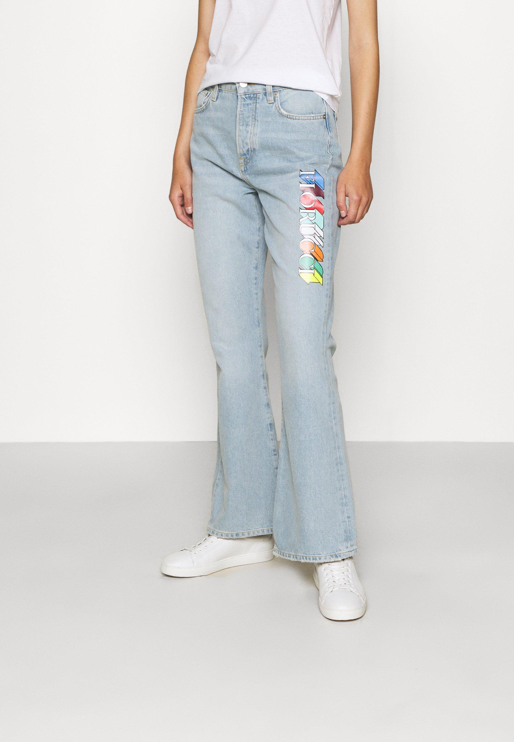 Damen MONO LOGO PRINTED BROOKE LIGHT VINTAGE - Jeans Bootcut
