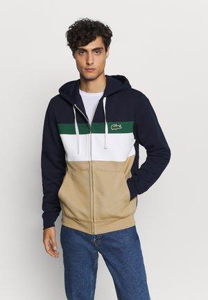veste en sweat zippée - viennois/farine/marine