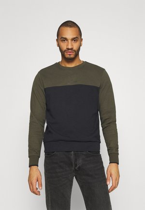 COLOR BLOCK - Sweatshirt - green