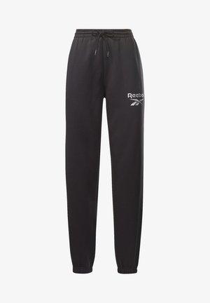 REEBOK IDENTITY LOGO FLEECE PANTS - Tracksuit bottoms - black