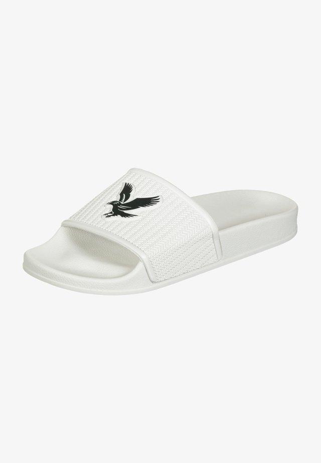 EDDIE - Sandales de bain - snow white/dark navy