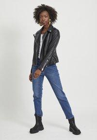 Vila - VICARA FAUX JACKET - Faux leather jacket - black - 1