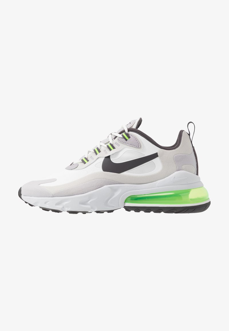 Nike Sportswear - AIR MAX  REACT - Sneakers - summit white/electric green/vast grey/silver lilac/thunder grey