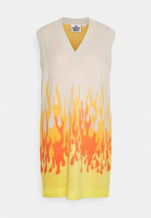 RIDER VEST DRESS - Jumper dress - beige