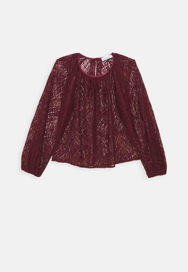 CLOSET GATHERED NECK BLOUSE - Long sleeved top - wine