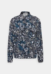 TOM TAILOR - BLOUSE PRINTED - Button-down blouse - navy/yellow - 0