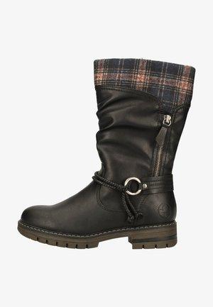 Platform boots - schwarz/ozean