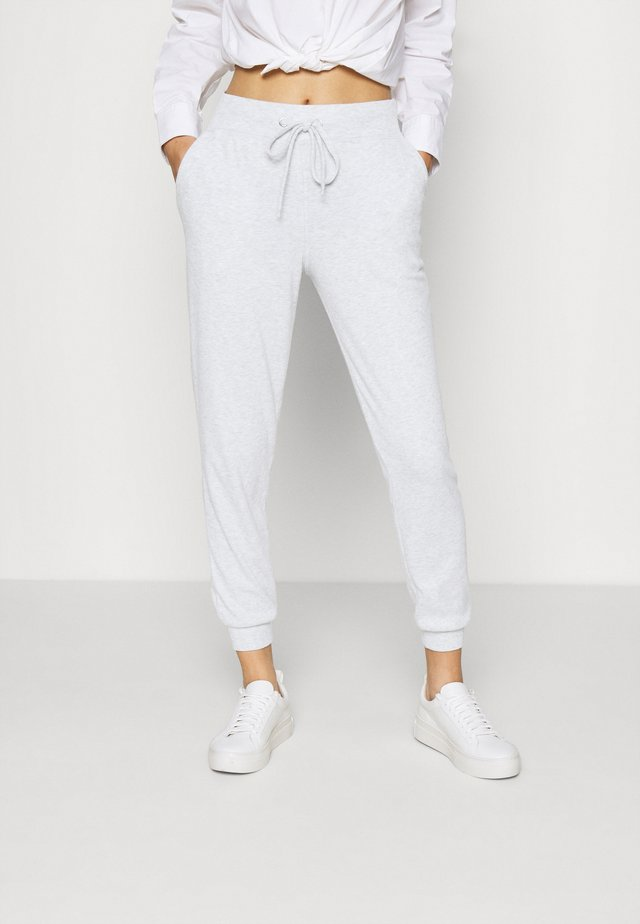 ANDREA HIGH WAIST JOGGERS - Teplákové kalhoty - grey melange