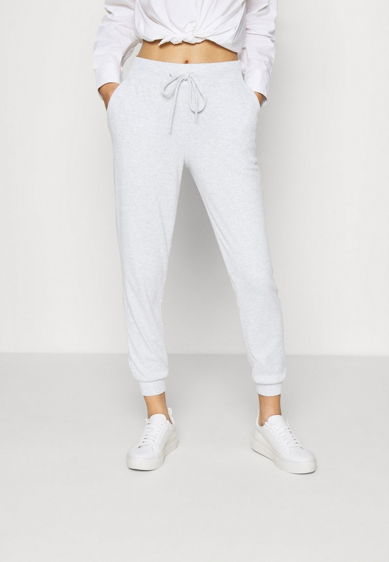 Gina Tricot - ANDREA HIGH WAIST JOGGERS - Tracksuit bottoms - grey melange