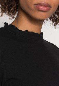 TOM TAILOR DENIM - COSY TEE - Långärmad tröja - deep black - 4
