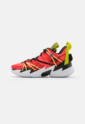 WHY NOT ZER0.3 SE UNISEX - Basketball shoes - bright crimson/black/universe red/white/bright cactus/citron pulse