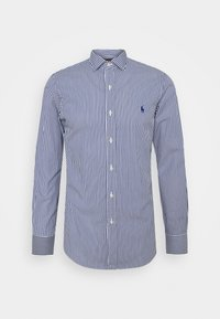 SLIM FIT STRIPED POPLIN SHIRT - Shirt - navy/white